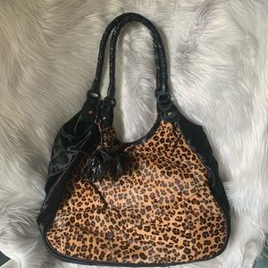 Anthony Luciano Haircalf Leopard Hobo w Signature